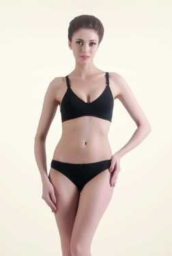 Bwitch Black Cotton Non-padded Seamless Bra