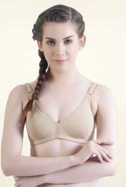 Bwitch Beige Cotton Non-wired Seamless Bra
