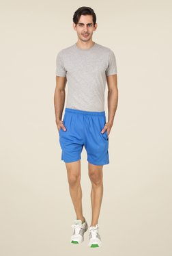 Spunk Blue Solid Shorts