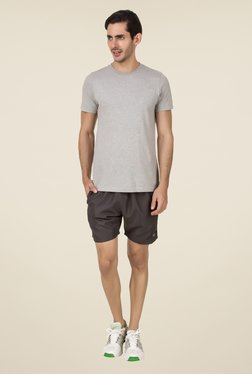 Spunk Dark Grey Solid Shorts