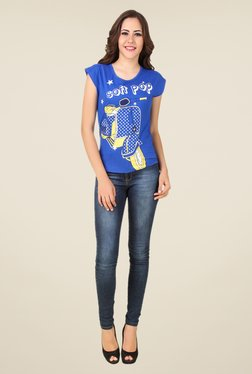 Spunk Blue Soft Pop Tee