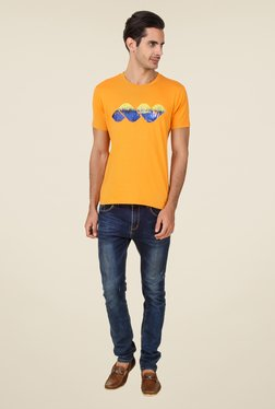 Spunk Orange Print T Shirt