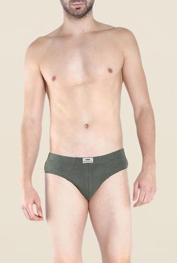 Park Avenue Olive Solid Briefs
