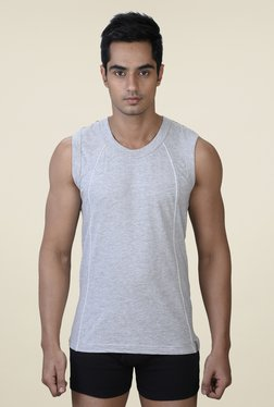 Park Avenue Grey Solid Vest
