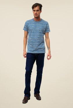 Threadbare Blue Striped Crew Neck T Shirt