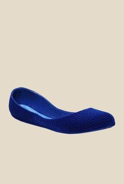 Sandak Hyden Flocking Blue Ballet Flats