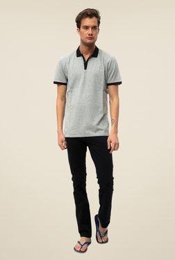 Threadbare Grey Solid Short Sleeve T Shirt