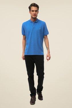 Threadbare Blue Solid Short Sleeve T Shirt