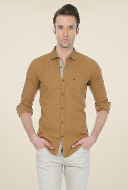 Basics Khaki Solid Shirt