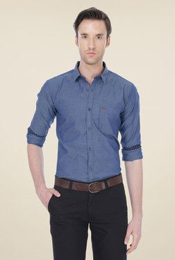 Basics Navy Solid Shirt - Mp000000000336764