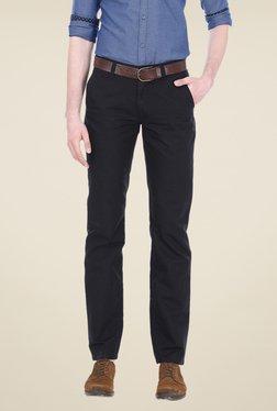 Basics Black Solid Trousers