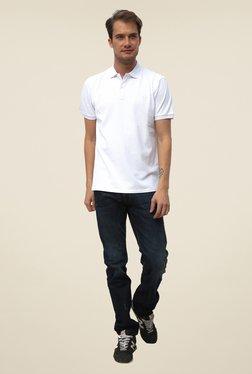 Threadbare White Shirt Collar Solid T Shirt