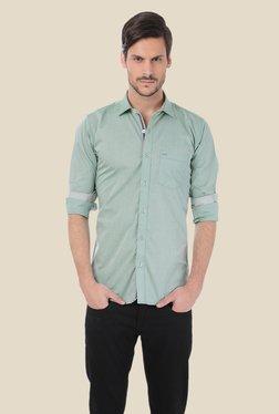 Basics Green Solid Shirt