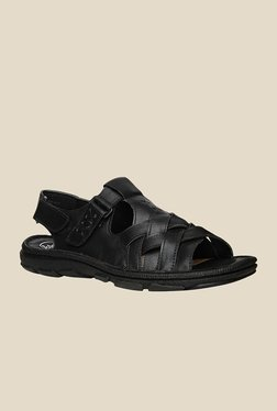 Scholl Jas Black Back Strap Sandals