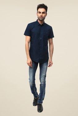 Threadbare Navy Solid Shirt