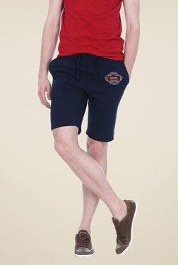 Basics Navy Solid Shorts