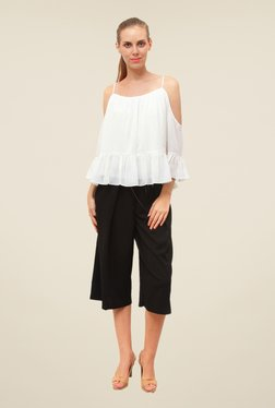 FCUK White Solid Casual Top