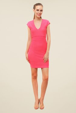 FCUK Pink Solid Dress