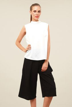 FCUK White Cotton Casual Solid Top