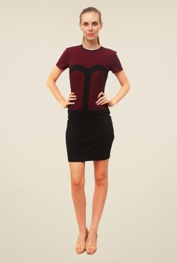 FCUK Black Solid Dress