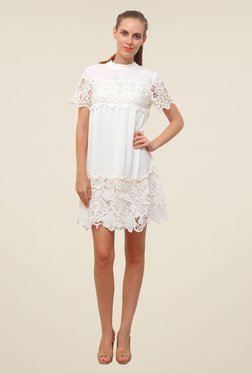 FCUK White Lace Dress