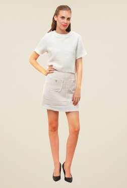 FCUK Cream Mini Skirt
