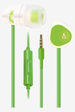 Creative MA-200 In the Ear Headphones with Mic (White/Green)