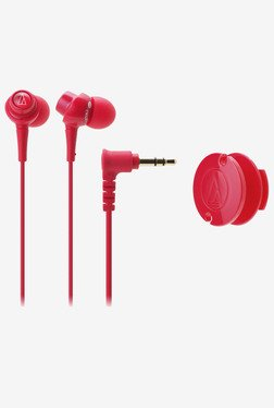 Audio Technica ATH-CKL203 RD In the Ear Headphone (Red)