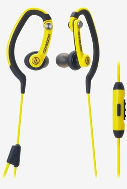 Audio Technica ATH-CKP200iS SonicSport Headphones (Yellow)