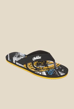 Avengers Black & Yellow Flip Flops