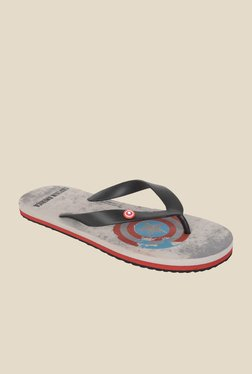 Avengers Captain America Black & Grey Flip Flops