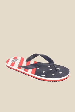 Avengers Captain America Navy & Red Flip Flops