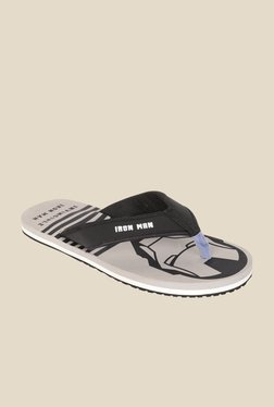 Avengers Iron Man Black & Grey Flip Flops