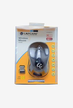 Lapcare WL 300 1000 DPI Wireless Optical Mouse (Black)