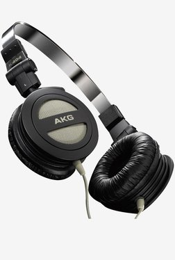 AKG K 404 Foldable Mini Headphone with Carrying Pouch(Black)
