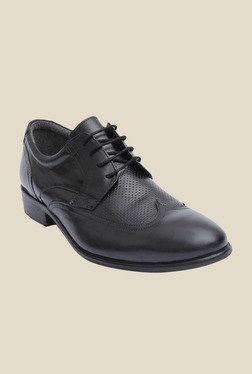 Salt 'n' Pepper Rafael Black Derby Shoes