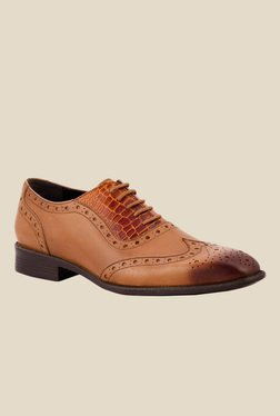 Salt 'n' Pepper Figo Almond Brogue Shoes