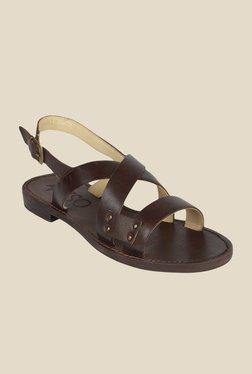 Salt 'n' Pepper Zed Brown Back Strap Sandals