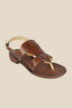 Salt 'n' Pepper Zed Tan Back Strap Sandals