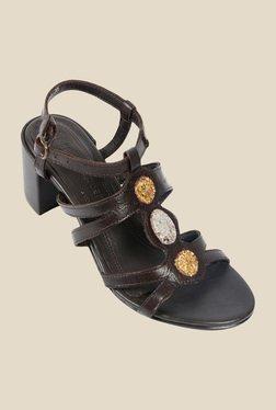 Salt 'n' Pepper Wendy Brown Ankle Strap Sandals