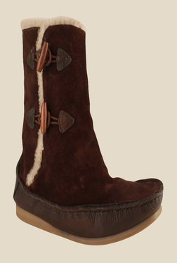 Salt 'n' Pepper Ozone Dark Brown Snow Boots