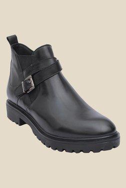 Salt 'n' Pepper Box Black Biker Boots