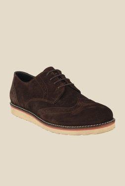 Salt 'n' Pepper Direction Brown Derby Shoes