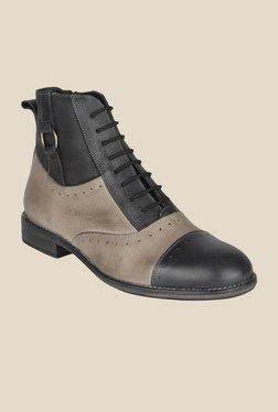 Salt 'n' Pepper Ray Black & Grey Casual Shoes