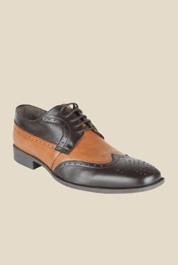 Salt 'n' Pepper Parker Brown & Almond Derby Shoes