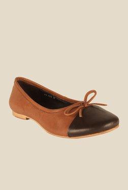 Salt 'n' Pepper Marco Almond & Brown Flat Ballets