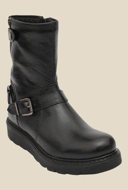 Salt 'n' Pepper Denia Black Biker Boots - Mp000000000346361