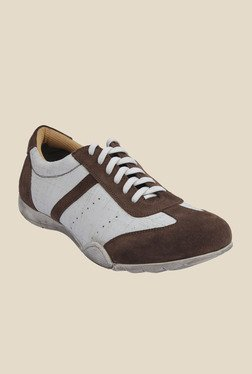 Salt 'n' Pepper Robust Brown & White Casual Shoes