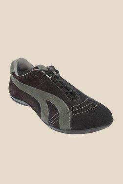 Salt 'n' Pepper Stain Black Casual Shoes
