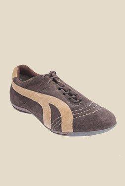 Salt 'n' Pepper Stain Brown Casual Shoes